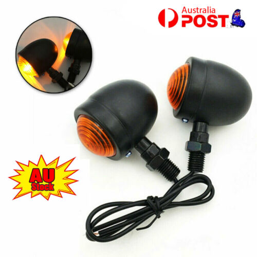 4x Retro Motorcycle Bulbs Turn Signal Lights Indicators For Motor Cafe Racer