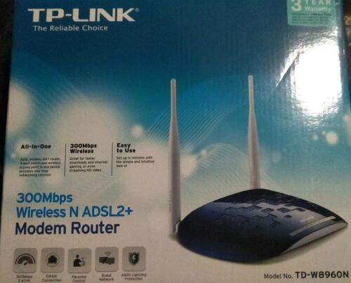 TP-Link TD-W8960N 300 Mbps 10/100 Wireless N Router Good Condition