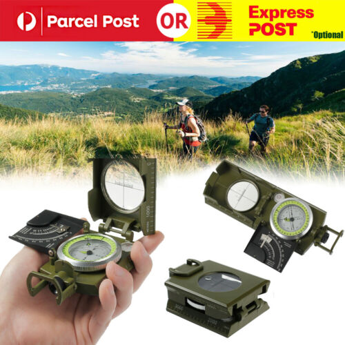 Pro Pocket Military Army Metal Geology Compass Sighting Clinometer Multifunction