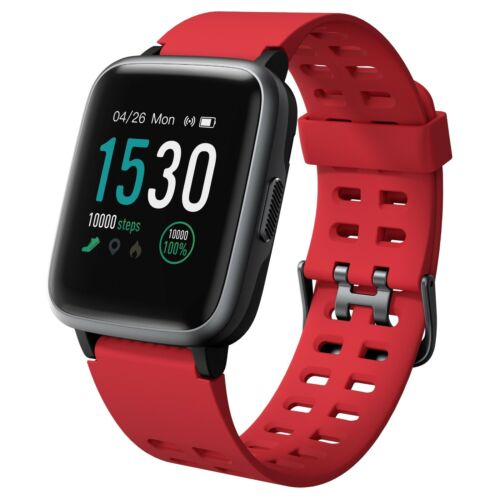 Noziroh Watch 205 Smartwatch per iOS Android iPhone Samsung Huawei Calorie Rosso