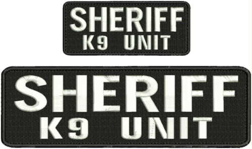 Patrol Narcotic K9 Unit embroidery patch 4X10 and 2x5 hook grey