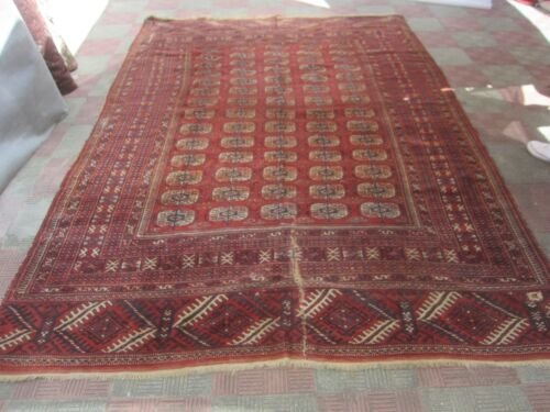 ANTIQUE YOMUT TEKKE HAND KNOTTED RUG 300x200-cm /118.1x78.7-inches