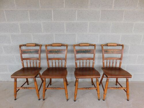 L HITCHCOCK Harvest Inn Chairs Set of 4