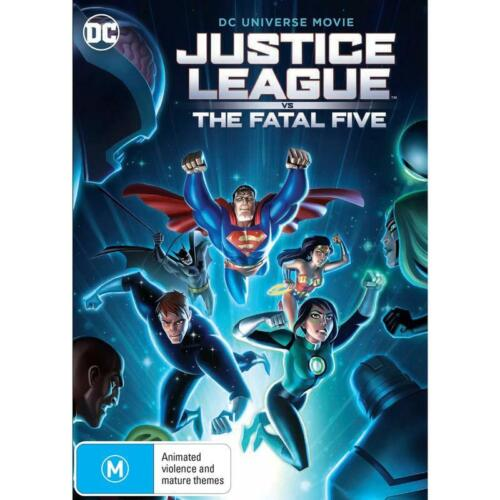 JUSTICE LEAGUE  VS THE FATAL FIVE DVD, NEW & SEALED, FREE POST