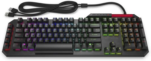 HP OMEN SEQUENCER OPTICAL-MECHANICAL GAMING KEYBOARD BLUE SWITCH RGB NEW