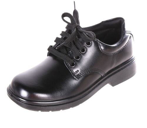 CLARKS Direction Kids Youth Leather School Shoes, Size 3.5  E+, Black