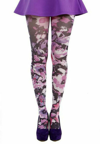16/18 |  Pamela Promise Floral Printed Plus Size Tights