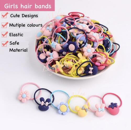 Kids girls toddler hair bands hair ties pigtails pink pony tail hairbands 20 pcs