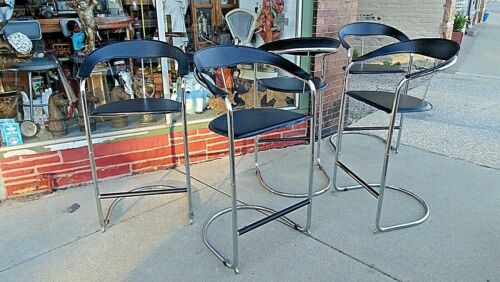 Chrome tubular Mid century Modern Vintage retro Bar chair stool 5 available