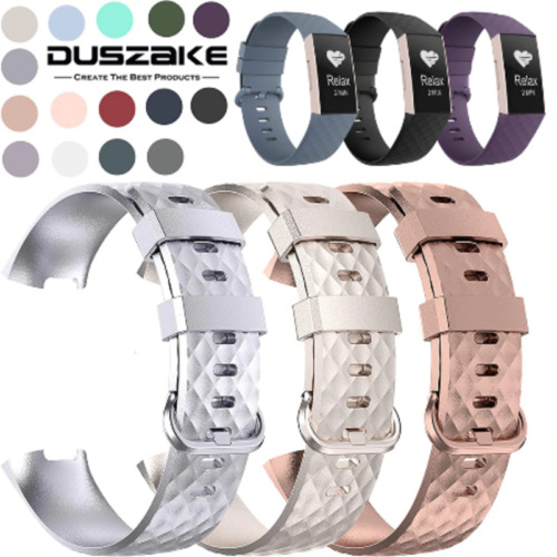 2020 Fitbit Charge 3 Replacement Silicone Watch Strap Band Men's Women's SIZE S