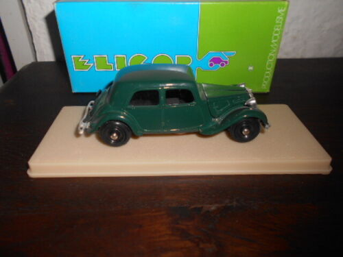 Voiture miniature ELIGOR 1031 Citroën Traction Berline verte 1938