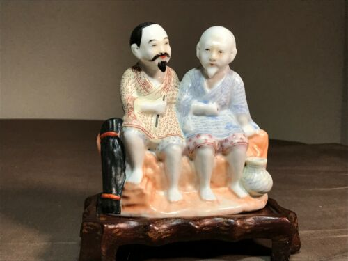 An Antique  Chinese Porcelain Group Figurine