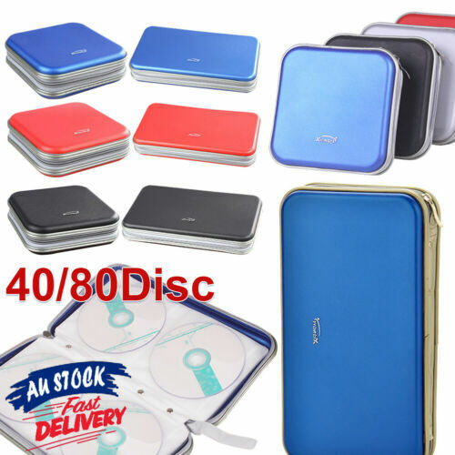 40/80 Wallet Sleeve Holder Disc In Car Ideal for Storage Carry Case DVD CD