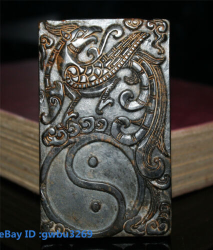 Old China Hongshan Culture Jade Hand-carved Ancient Phoenix Gossip Brush Washers