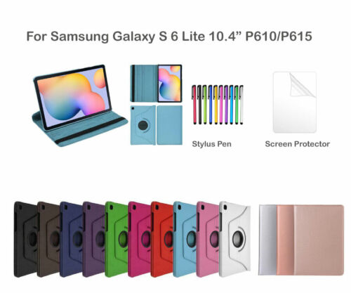 """Rotate PU Leather Cover Case for Samsung Galaxy Tab S6 Lite 10.4"""" P610/P615"""