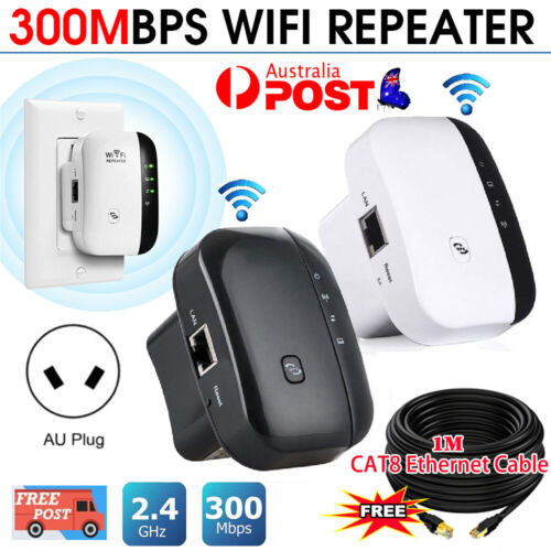 300Mbps Wifi Repeater Wireless-N 802.11 AP Router Extender Booster Range AU Plug