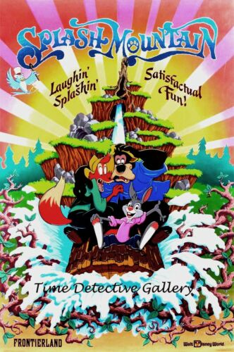 "Vintage Disney World ""Splash Mountain"" Attraction Poster - Available in 4 Sizes"