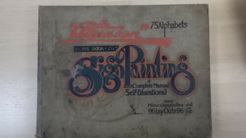 Atkinson´s Sign Painting 96 LayOuts Werbung Reklame um 1900 in English