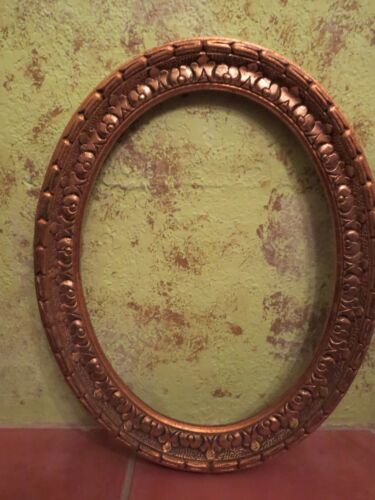 BIG 19X15 VINTAGE GOLD GILT PICTURE FRAME OVAL MADE IN SPAIN