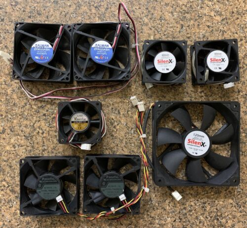 COMPUTER FANS BUNDLE 11 FANS IN TOTAL - 3 PIN AND 4 PIN PWM