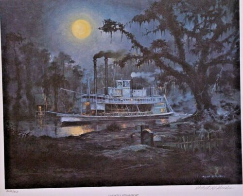 Robert Rucker Ghostly Steamboat Signed & Numbered print