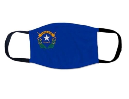 Face Mask NEVADA STATE Flag US Washable/Reusable CDC Recommended PIN UP MOOther Militaria (Date Unknown) - 66534