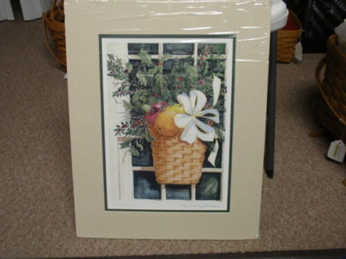 """Longaberger """"HOLIDAY WINDOW"""" PICTURE/PRINT MATTED, By M.A. BUCCI, 2004, NEW!!!"""