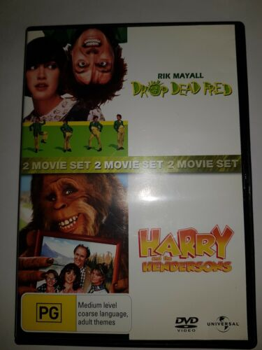 Drop Dead Fred + Harry And The Hendersons DVD, Region 4, 2 Discs.