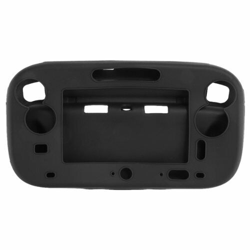 Soft Silicone Gel Case Cover Protection for Wii U Gamepad Controller Black K3I1