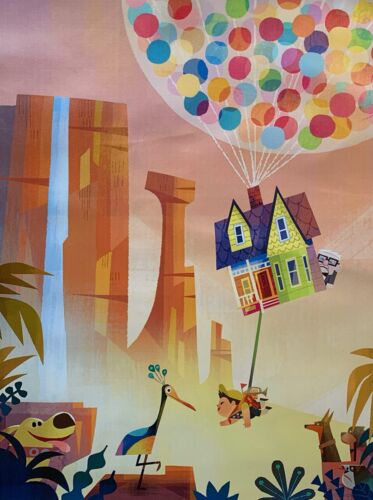 "Disney Pixar UP Animation Movie Film Art Giclee on Canvas 16"" x 12"""