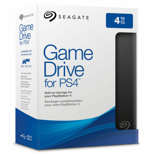 Seagate Game Drive 4TB External Portable HDD Hard Drive for PS4 STGD4000400 USB