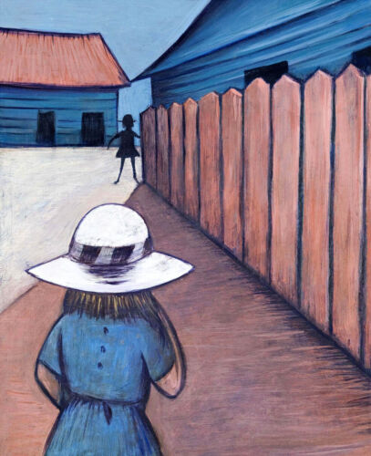 Charles BLACKMAN Schoolgirls in Laneway 1953 - Iconic Signed Modernist + LOP
