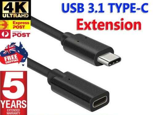 1M USB 3.1 Type-C Male to Female Extension Cable USB-C Thunderbolt 3 Extender