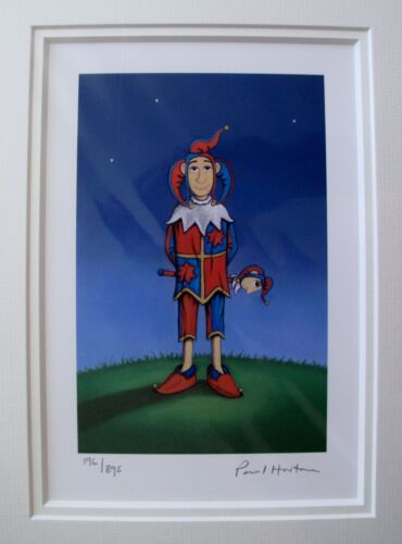 """PAUL HORTON """"THE JESTER"""" Hand Signed Limited Edition Giclee Matted Art"""