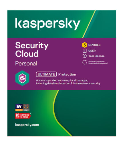 Kaspersky Security Cloud Personal 5 Devices 1 Year License Key 2021