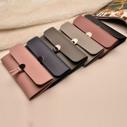 Women Leather Wallet Rfid Design Lady Party Clutch Bag Fashion Long Purse Gifts