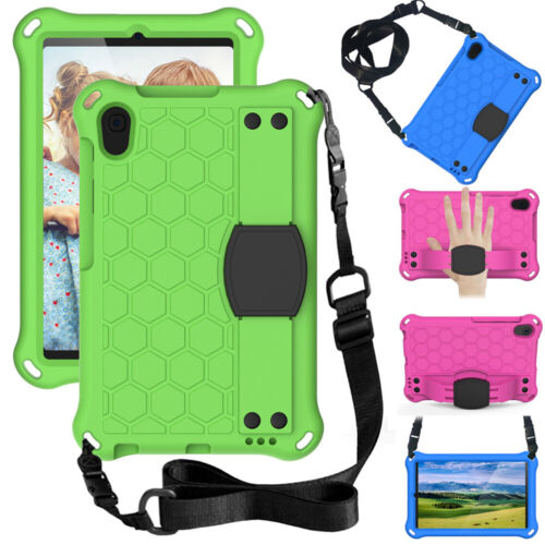 Kid Shockproof Stand Straps Case For Samsung Galaxy Tab A A6 2019 A8 4 E S6 2020