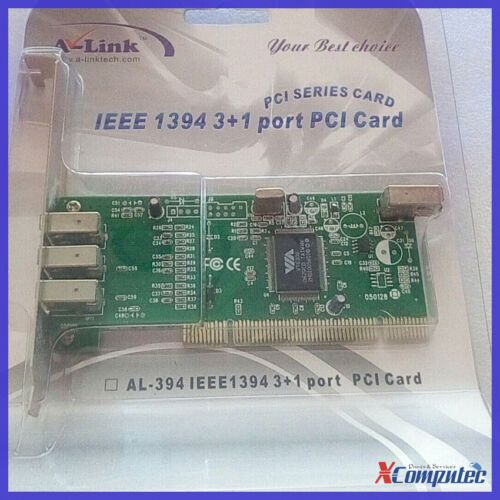 A-LINK PCI 4-Port 6Pin IEEE-1394 Firewire-400 Card Adapter Windows 10 Support