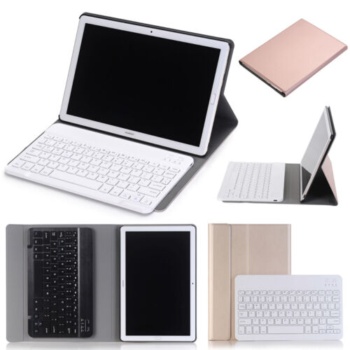 Bluetooth Keyboard Leather Case For Huawei MediaPad T3 T5 10 M5 C5 M6 Pro10.8 V6