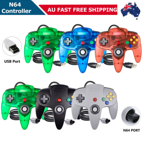 Wired N64 Controller USB Remote Gamepad Joystick For Nintendo 64 N64 Game System