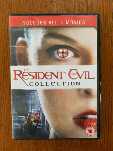 Resident Evil 1 + 2 + 3 + 4 DVD Region 2 LIKE NEW