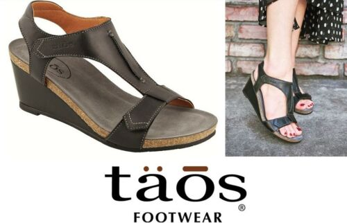 Taos Footwear comfort leather wedge sandals - Taos Shoes Sheila