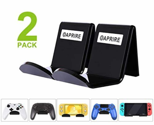 Game Controller Stand Holder Wall Mount (2 Pack) for PS4 Steam Xbox Onyx Black