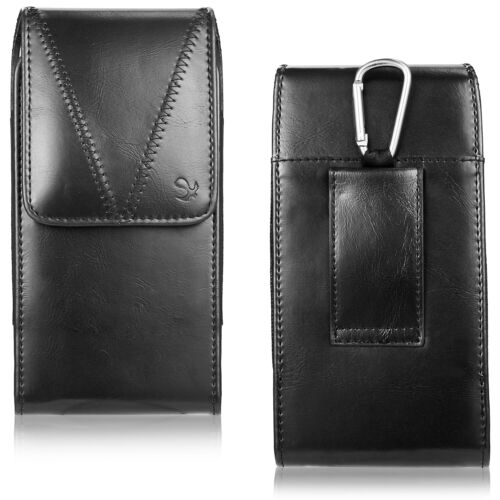 Vertical PU Carry Holster Belt Cell Phone Pouch Case For iPhone 6 7 8 iPhone SE