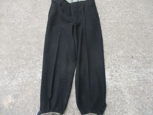 German WWII Style Black Wool Ski Trousers Uniforms - 104001