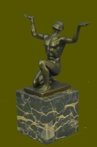 Abstract Sitting Male Sculpture Handmade Copper Bronze Figure Statue Ornament