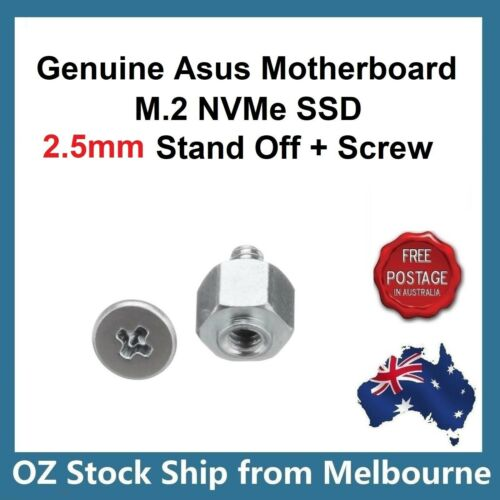 Genuine Asus Motherboard M.2 SSD Screw + Hex Nut Stand Off Spacer 13020 2.5mm