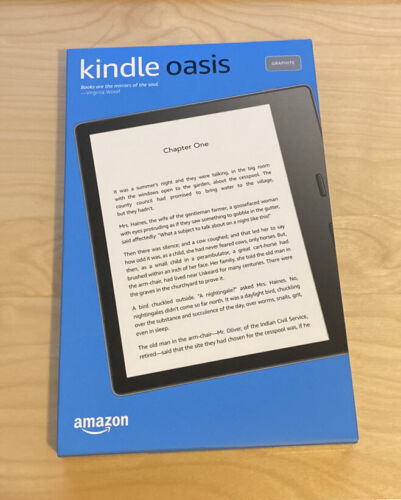 Kindle Oasis 2019 32GB Wi-Fi (Brand New) and Premium Leather Cover