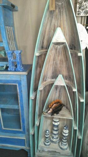 3 Piece Boat Shaped Nautical Book Shelves