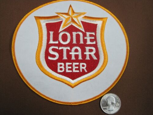 BEER PATCH LONE STAR BEER PATCH LARGE CIRCLE SIZE LOOK AND BUY NOW! TEXAS BREW!!